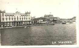 LA  HAVANE    CPA  PHOTO    LE   PALAIS   ET   LE QUAI - Cuba