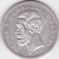 5964A  ROMANIA - 5 Lei 1901 - CAROL I°  - SILVER ARGENTO - Romania