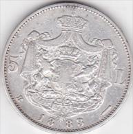 5964A  ROMANIA - 5 Lei 1883 - CAROL I°  - SILVER ARGENTO - Romania