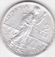 5964A  ROMANIA - 2 LEI  1914  - SILVER ARGENTO - Romania