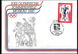 URSS    FDC    Jo 1980   Football   Course Marche - Fussball