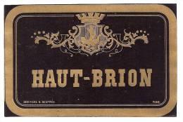 Etiquette HAUT BRION - Pessac Leognan Grand Cru Classé -  Litho Chromo Début XXème - Bordeaux