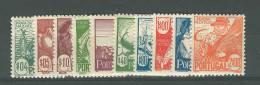 Portugal 1941, Regional Costumes Issue, Sc 605-14, Set Of 10, MNH - 1910-... Republic