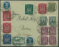 Deutsches Reich 1922 Brief Mit Seltener Flugpostmarke 2 X 216 B Geprüft - Allemagne