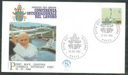 1982 VATICANO VIAGGI DEL PAPA PARTENZA PER SVIZZERA GINEVRA - SV - FDC