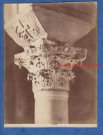 Photo Ancienne Albuminée Vers 1860 - RAVENNA - Empio Di S.Vitale Un Capitello Bizantino Nella Loccia - Foto Alinari -TOP - Oud (voor 1900)