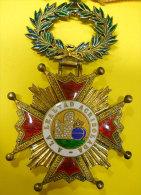 Somptueuse Décoration Ordre Isabelle La Catholique Fondé Roi Ferdinand VII 1815 Modifié 1847 Espagne Espana Et Son Ruban - Médailles & Décorations