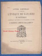 Document Ancien De 1894 - Lettre Pastorale De Mgr L'Eveque De LANGRES - Priéres Pour La Russie Mort Du Tsar Alexandre 3 - Documents Historiques