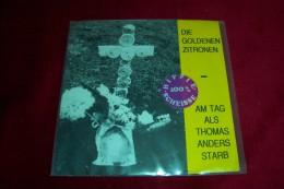 DIE GOLDENEN ZITRONEN  °  AM TAG THOMAS ANDERS STARB - Sonstige - Deutsche Musik