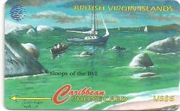 British Virgin Islands - Sloops, 193CBVF, 1998, 15.000ex, Used - Islas Virgenes