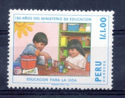 PERU - 1988 - Ministry Of Education, 150th Anniv - Sc 929 - VF MNH - Peru