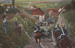 1916 D. Reich MILITARIA/FELDPOST, BESSERE PROPAGANDA-Karte: Soldatenleben, gelaufen MK