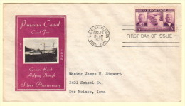 USA SC #856 FDC  1939 Panama Canal (08-15-1939), CV $18.00 - First Day Covers (FDCs)