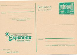 DDR - 1973 , Esperanto Dient Dem Frieden + 1988 , Leipzig  Tag Des Esperanto-Buches - Esperanto