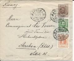 POLOGNE RUSSIE  - 1913 - ENVELOPPE ENTIER POSTAL De VARSOVIE Pour AACHEN (GERMANY) - TRICOLORE - 1857-1916 Imperium