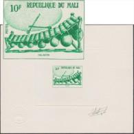 Mali 1973 Y&T 208. Épreuve D'artiste, Signée Gilbert Aufschneider, Graveur. Instruments De Musique : Le Balafon - Music