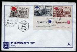 A3054) Israel FDC Brief 29.04.1952 Mi.69-71 (69 + 70 Mit TAB) - FDC