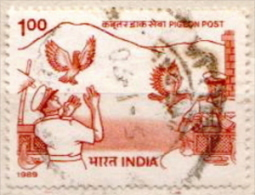 India Used Stamp - Columbiformes