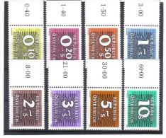 SOS1357 ÖSTERREICH 1985/89  PORTO  Michl  260/67 Postfrische RANDSTÜCKE  ** - Postage Due