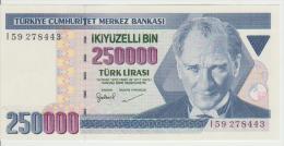 Turkey 250000 Liras 1970(98) Pick 211 UNC - Turkey
