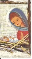 BAU221 - BIGLIETTO AUGURALE - BUON NATALE - MADONNA CON BAMBINO - SOLO PRIMA PAGINA - Noël
