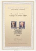 Europa Cept 1985 Germany Ersttagsblatt 2v  (F2908) - Europa-CEPT