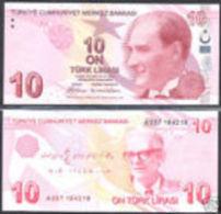 Turkey 10 Liras 1970(2009) Pick 223 UNC - Turchia