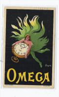 CPA PUBLICITE - MONTRES CYCLES OMEGA - SUPERBE CP ILLUSTRATION Signée CAPPIELLO - Jolie Oblitération - Publicité