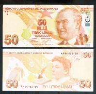 Turkey 50 Liras 1970(2009) Pick 225 UNC - Turkey