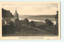 MONTPERREUX  Et Son Eglise - Lac De SAINT POINT  - 2 Scans - Frankreich