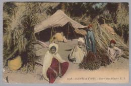 AK ALGERIE 1910-10-08 Alger Gourbi Dans L'Oasis Photo E.S. - Algérie