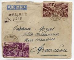 ENVELOPPE RECOMMANDE PROVISOIRE De M'BALMAYO (CAMEROUN) - Cameroun (1915-1959)