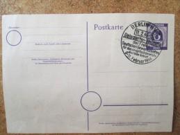 Entier Postal Avec 7 Timbres De Berlin - Postales - Usados