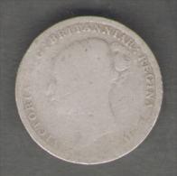 GREAT BRITAIN / GRAN BRETAGNA - QUEEN VICTORIA - 3 PENCE ( 1885 ) AG SILVER - 1816-1901 : Coniature XIX° S.