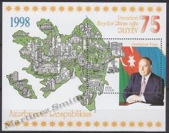 Azerbaidjan - Azerbaijan - Azerbaycan 1998 Yvert BF 41, 75th Ann. President Heydar Aliev - MNH - Azerbaïjan