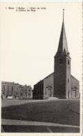 CPSM  -  Dour -  L'église L'hôtel De Ville Et Justice De Paix - BELGIQUE - Dour