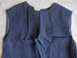 Ancien - Robe Noire Femme Berliner Chic Esbi Modestoff Allemagne Années 50 - Vintage Clothes & Linen