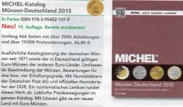 MICHEL Münzen Deutschland 2015 Neu 27€ D DR Ab 1871 III.Reich BRD Berlin DDR Numismatik Coin Catalogue 978-3-95402-107-9 - Coins