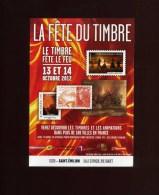 - FRANCE 33 . SAINT EMILION . PROSPECTUS LA FETE DU TIMBRE . 13/14 JUILLET 2012 . - Timbres