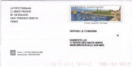 PAP La Rochelle 2009 - Philaposte - Cahrte De La Philatélie - Prêts-à-poster:Stamped On Demand & Semi-official Overprinting (1995-...)