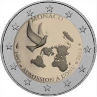 Monaco 2013    2 Euro Commemo    Verenigde Naties    UNC Uit De Rol  UNC Du Rouleaux  !! - Monaco