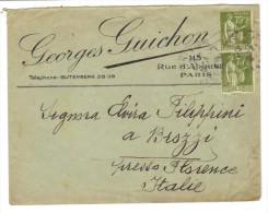 637/600 - FRANCIA Coppia Del 75 Cent Per Firenze - Francia