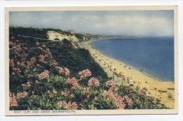 ENGLAND ~ West Cliff & Sands BOURNEMOUTH United Kingdom 1954 Postcard - Postcards