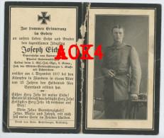 Doodsprentje Sterbebild Zandvoorde 1917 Flandern Ypern Langemark BRIR 2 Eicher
