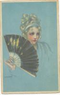 ZANDRINO 17 - 3  Femme Avec Ventilateur, Woman With Fan, Old Postcard - Zandrino