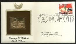 United States  USA 1993 American County Western Music Cinema Hank Williams Gold Replica Cover Sc 2723  # GLC021 - Musique