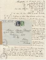 EAC/Avion  10 + 5F Gandon Montpellier -> Autriche 1946 Censure Autrichienne - Marcophilie (Lettres)