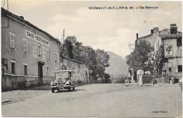 ORCINES (La Baraque) Cpa(63)  Vieille Voiture - Café Restaurant - Montaigut
