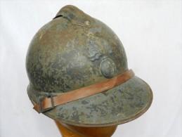 BON CASQUE ADRIAN 1915 INFANTERIE   -   à Voir .... #.2 ........... - Headpieces, Headdresses