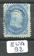 EUA Scott  63 Signed YT 18 # - 1847-99 Unionsausgaben